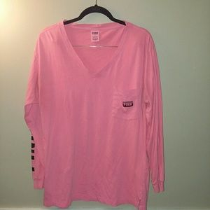 Pink Victoria's Secret pink long sleeve shirt